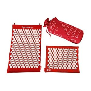 16x27x2 Spoonk Back Pain and Sleep Induction Combo Set/one Regular and one Travel (Chery red)