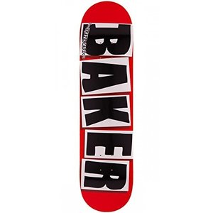 Baker Brand Logo Red with Black Letters 7.88
