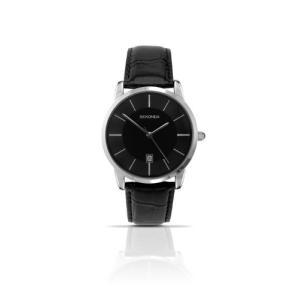 3346.27 Sekonda Men's Quartz Watch with Black Dial Analogue Display and Black Leather Strap 3346.27|abareusagi-usa