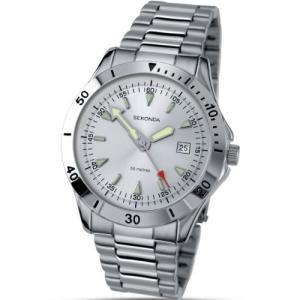 3278 Sekonda Men's Date Display Watch With Stainless Steel Bracelet 3278|abareusagi-usa