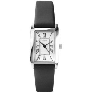 4025 Sekonda Analogue Roman Numerals White Dial Black Leather Strap Ladies Watch 4025|abareusagi-usa