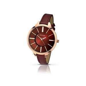 2245.27 Sekonda Editions Rose Gold Dial Burgandy Strap Ladies Watch 2245|abareusagi-usa