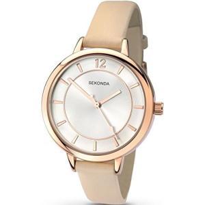 2137.27 Sekonda Women's Quartz Watch with Silver Dial Analogue Display and Beige PU Strap 2137.27|abareusagi-usa