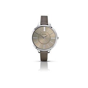 2251.27 Sekonda Women's Quartz Watch with Beige Dial Analogue Display and Beige PU Strap 2251.27|abareusagi-usa
