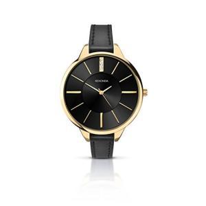 2252.27 Sekonda Women's Quartz Watch with Black Dial Analogue Display and Black PU Strap 2252.27|abareusagi-usa