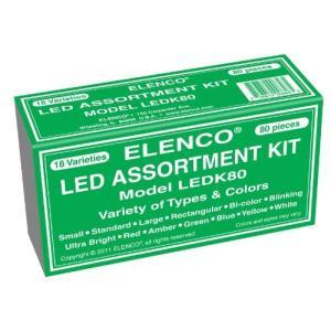 LEDK-80 Elenco Electronics LEDK-80 80 pc LED Component Kit abareusagi-usa