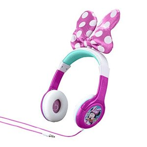 MM-140.3Xv7 One Size Minnie Mouse Headphones for Kids with Built in Volume Limiting Feature for Kid Friendly Safe Listening|abareusagi-usa