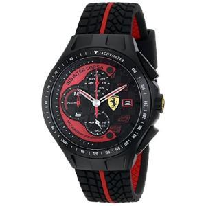 0830077 Ferrari Men's 0830077 Race Day Chronograph Black Rubber Strap Watch abareusagi-usa