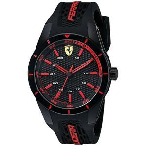 0830245 Ferrari Men's 0830245 REDREV Analog Display Quartz Black Watch abareusagi-usa