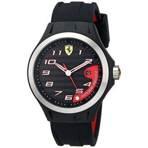 0830012 Ferrari Men's 0830012 Lap Time Analog Display Quartz  Black Watch abareusagi-usa