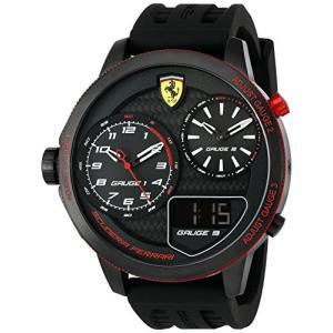0830318 Ferrari Men's 0830318 XX KERS Analog Display Japanese Quartz Black Watch abareusagi-usa