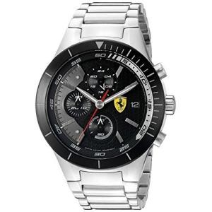 0830263 Ferrari Men's 0830263 REDREV EVO Stainless Steel Bracelet Watch with Black Dial abareusagi-usa