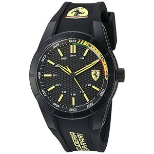 0830302 Ferrari Men's 'Redrev' Quartz Black Casual Watch (Model: 0830302) abareusagi-usa