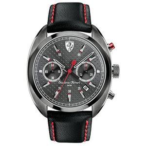 830209 Ferrari Men's 830209 Formula Sportiva Analog Display Quartz Black Watch abareusagi-usa