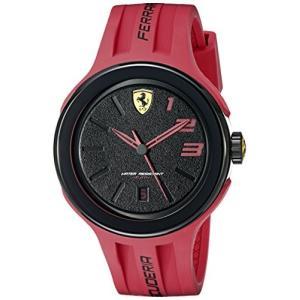 830220 Ferrari Men's 830220 FXX Logo-Accented Watch with Red Band abareusagi-usa