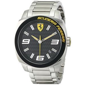 0830168 Ferrari Men's 0830168 Aero Evo Analog Display Quartz Silver Watch abareusagi-usa