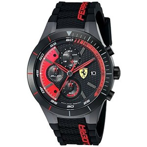 0830260 Ferrari Men's 0830260 REDREV EVO Analog Display Quartz Black Watch abareusagi-usa