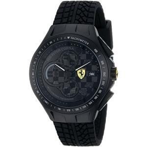 0830105 Ferrari Men's 0830105 Race Day Analog Display Quartz Black Watch abareusagi-usa