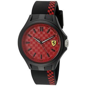0830325 Ferrari Men's Quartz Multi Color Casual Watch (Model: 0830325), Black/Red abareusagi-usa