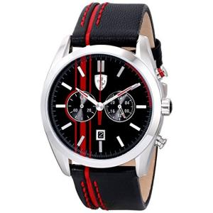 0830177 Ferrari Men's 0830177 D 50 Analog Display Quartz Black Watch abareusagi-usa