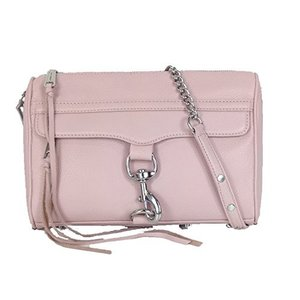 HS16EFC02 Medium Rebecca Minkoff MAC Leather Clutch Crossbody Bag, Blush|abareusagi-usa