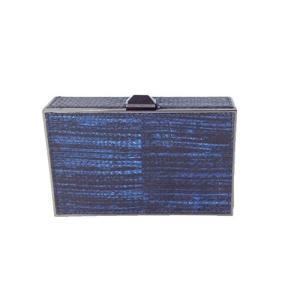 XF25GSNC47 Small Rebecca Minkoff Odette Python Snakeskin Minaudiere Clutch, Blue|abareusagi-usa