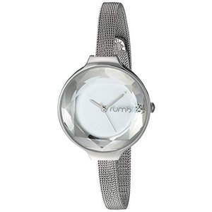 24319 Orchard Gem Mesh RumbaTime Women's Orchard Gem Mesh Japanese-Quartz Watch with Stainless-Steel Strap, Silver, 8 (Model: 2431|abareusagi-usa