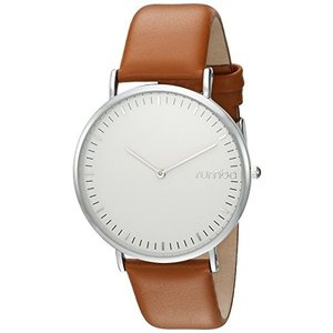 24715 RumbaTime Women's 'SoHo Leather Hazelnut' Quartz Metal and Leather Casual Watch, Color:Brown (Model: 24715)|abareusagi-usa