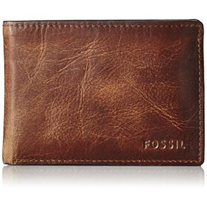ML3709200 One Size Fossil Men's Derrick Leather Front Pocket Bifold Wallet|abareusagi-usa