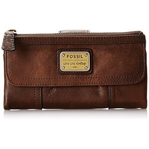 Emory Clutch One Size Fossil Women Brown Leather Emory Wallet|abareusagi-usa