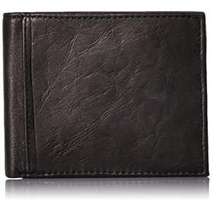 ML3784 One Size Fossil Men's RFID Flip ID Bifold Wallet, Black, One Size|abareusagi-usa