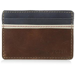 ML3311200 One Size Fossil Men's Elgin Leather Card Case Wallet|abareusagi-usa