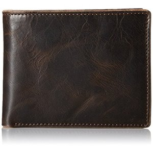ML3705 One Size Fossil Men's Anderson Flip ID Bifold Wallet, Black - One Size|abareusagi-usa