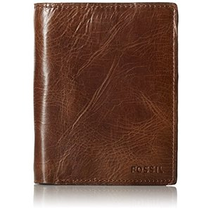 ML3686 One Size Fossil Men's International Combination Wallet, Dark Brown, One Size|abareusagi-usa