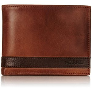 ML3652200 One Size Fossil Men's Quinn L-Zip Bifold Wallet, BROWN, One Size|abareusagi-usa