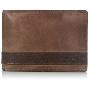 ML3650200 One Size Fossil Men's Quinn Leather Money Clip Bifold Wallet|abareusagi-usa