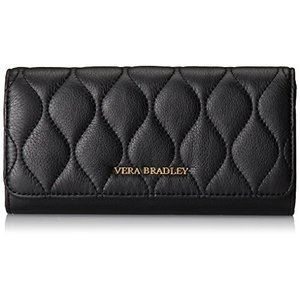 Quilted Audrey Wallet One Size Vera Bradley Leather Quilted Audrey, Black|abareusagi-usa