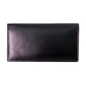 7406 One Size ili New York 7406 Leather Checkbook Cover (Black/Toffee)|abareusagi-usa