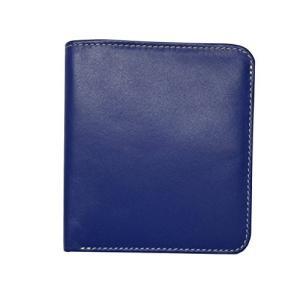 One Size ili New York 7831 Two Tone Leather Wallet with RFID Blocking Lining (Cobalt/Bone)|abareusagi-usa