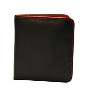 One Size ili New York 7831 Two Tone Leather Wallet with RFID Blocking Lining (Black/Red)|abareusagi-usa