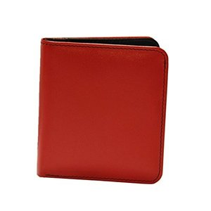 10460691 One Size ili New York 7831 Two Tone Leather Wallet with RFID Blocking Lining (Red/Black)|abareusagi-usa