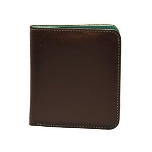 One Size ili New York 7831 Two Tone Leather Wallet with RFID Blocking Lining (Brown/Turquoise)|abareusagi-usa