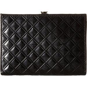 VI-32258 none US Women Hobo Women's Luci Diamond Embossed Black Wallet|abareusagi-usa