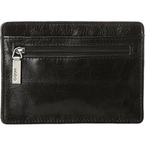 Euroslide Credit Card Holder One Size HOBO Vintage Euroslide Card Holder Wallet,Black,One Size|abareusagi-usa