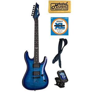 ディーンDean Custom 450 Electric Guitar, Trans Blue Flame, EMG Pickups, FREE EXTRASの商品画像|ナビ