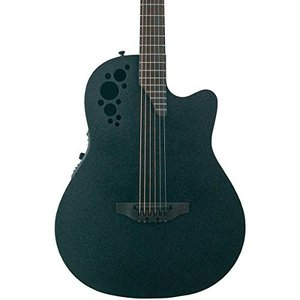 DS778TX-5 D Scale Ovation Mod TX Collection D Scale 6 String Acoustic-Electric Guitar, Right Handed, Textured Black, Mid Depth Bod abareusagi-usa