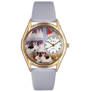 C0110008 Whimsical Watches Kids' C0110008 Classic Gold Bunny Rabbit Baby Blue Leather And Goldtone Watch|abareusagi-usa
