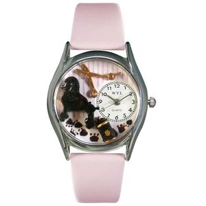 WHIMS-S0630005 Whimsical Watches Women's S0630005 Dog Groomer Pink Leather Watch|abareusagi-usa