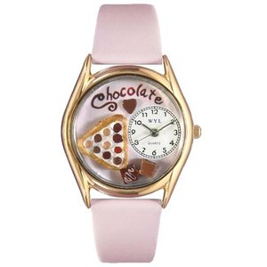 C0310005 Whimsical Watches Women's C0310005 Classic Gold Chocolate Lover Pink Leather And Goldtone Watch|abareusagi-usa