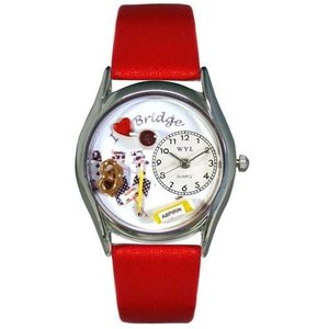 WHIMS-S0430005 Whimsical Watches Women's S0430005 Bridge Red Leather Watch|abareusagi-usa